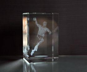 3D-Laserwürfel Handball