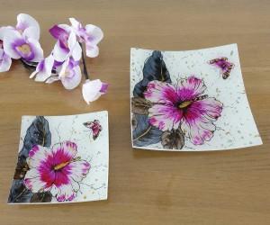 Fusingteller mit Blüte