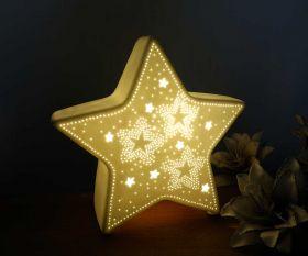 Wohnraumleuchte Stern aus Keramik