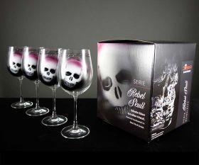Rebel Skull Paint Gläser im 4er Set im Geschenkkarton