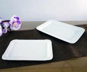 Porzellanteller im Pappteller-Design