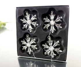Schneeflocken 4er-Set 6,5cm