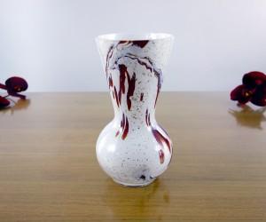 Vase konisch Glimmer Rot