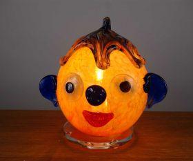 Dekoleuchte oranges Clowngesicht