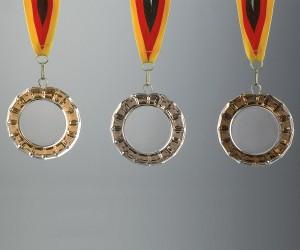 Flachglas Medaille, Rand geschliffen,