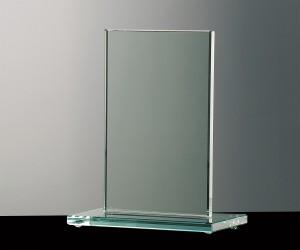 Flachglas Pokal klare einfache Form