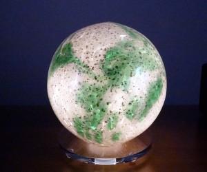 Deko-Leuchte Glimmer grün / weiß