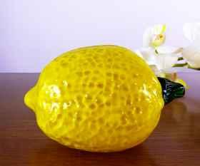 Zitrone aus Kristallglas