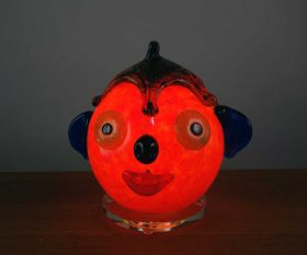 Dekoleuchte rotes Clowngesicht