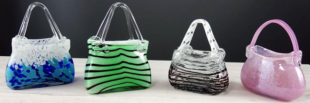 Glas-Handtaschen