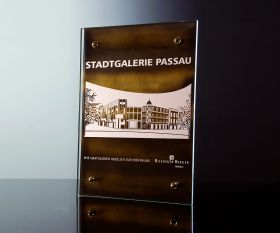 Kristall-Urkunde 30x42cm inkl. Textgravur