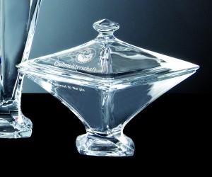 Dose aus Glas Quadro