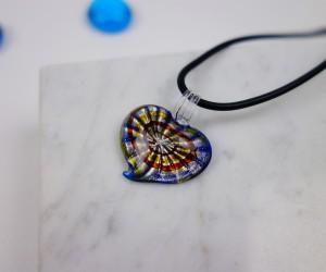 Kinder Halskette Herz blau