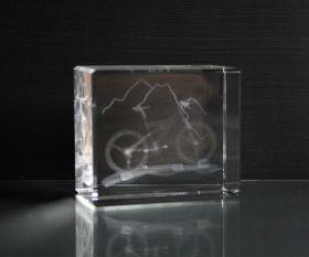 3D-Laserwürfel Mountainbike