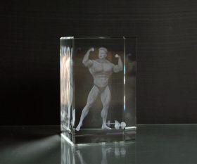 3D-Laserwürfel Bodybuilder
