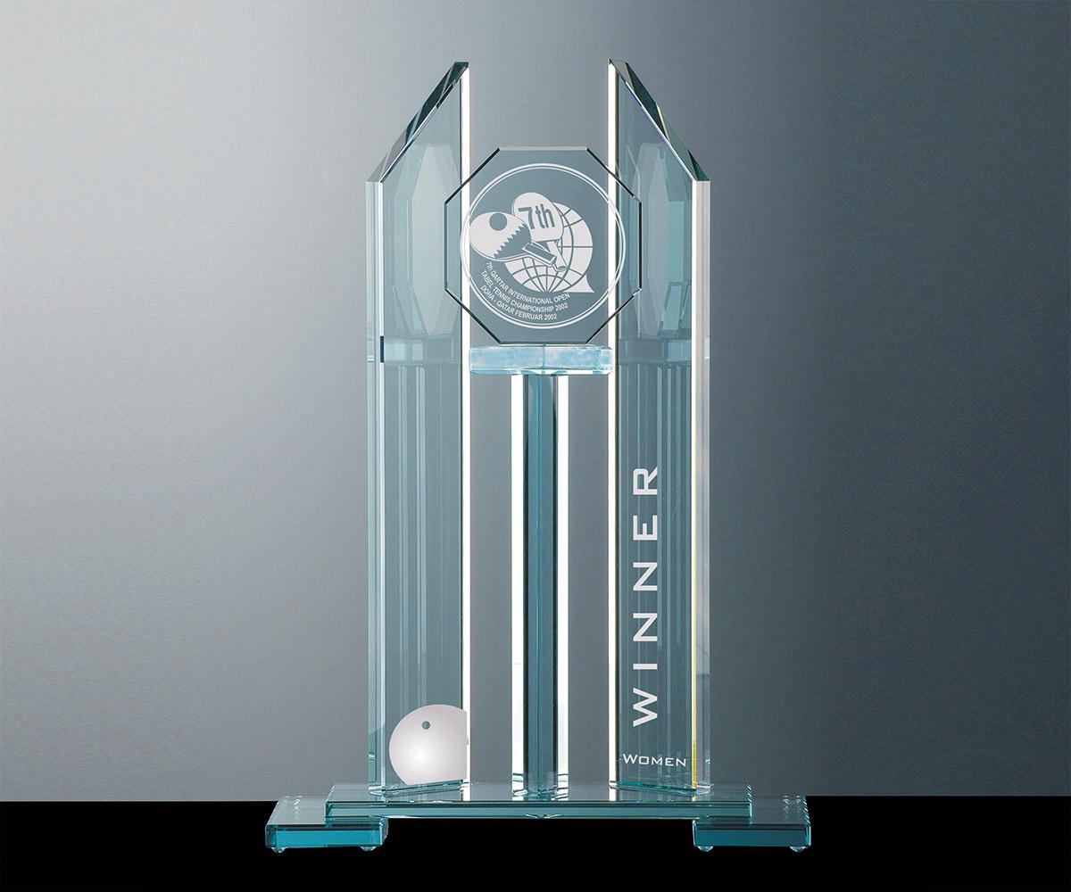 Flachglas Pokal Aus Gr Nem Kristallglas Sportpokale