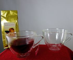 Teetasse doppelwandig mit Henkel