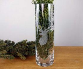 Vase mit Hirschgravur