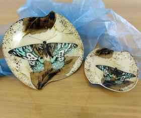 Fusingschale rund mit Schmetterlingsdekor