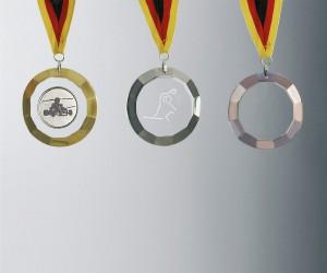 Medaille mit geschliffenem Rand