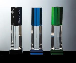Farbglas Prismenpokal gerade