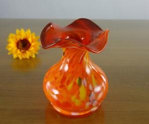 Oraange Glashüttenvase