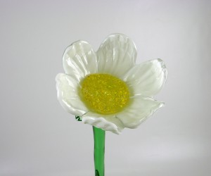Weiße Glasblume