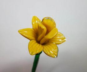 Gelbe Glasblume