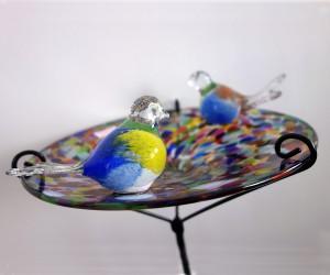 Vogeltränke aus Glas