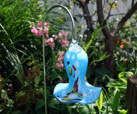 Mini Glasglocke hellblau