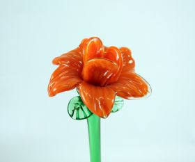 Glasblume orange