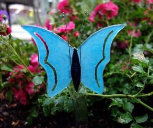 Blauer Schmetterling Fusingglas