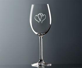 Rotwein Glas Herz