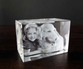 3D-Glasfoto 10x7x6cm