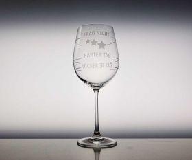 Frag Nicht Weinglas
