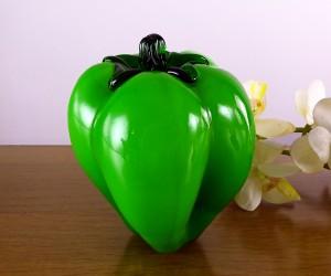 Grüne Glaspaprika