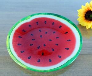 Glasteller Melone
