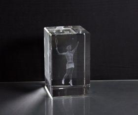 3D-Laserwürfel Tennis weiblich