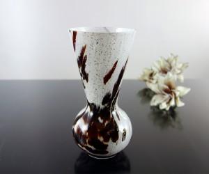 Vase konisch Glimmer braun