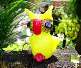 Gelbe Glaseule 14 cm