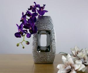 Keramikvase silber