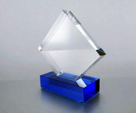 Pokal mit Farbsockel BLUE