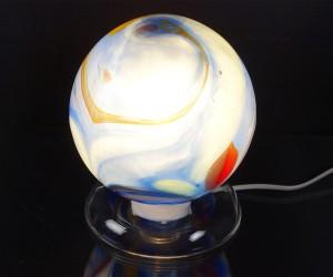 Dekoleuchte blau mit Glassockel