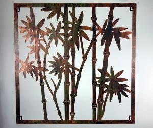 Metallbild Bambus