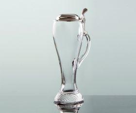 Weißbierglas mit Zinndeckel