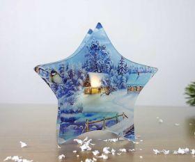 Stern Teelichthalter Wintermärchen
