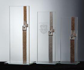 Flachglas Pokale in Siegerfarben