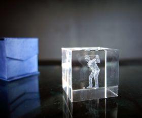 3D-Laserwürfel GOLFER 4cm
