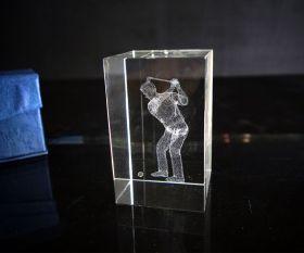 3D-Laserwürfel GOLFER 8cm