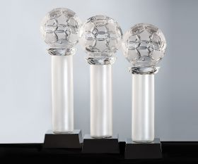 Exlusive Kristallglas Fußball Trophäe